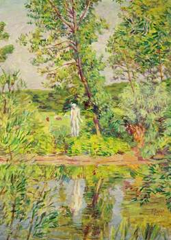 Landscape with Statue