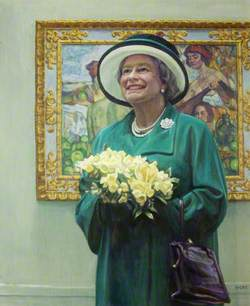 Her Majesty The Queen at the Royal West of England Academy