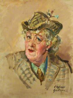 Margaret Rutherford as The Duchess of Port-au-Bronc in 'Time Remembered' by Jean Anouilh