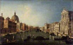The Grand Canal with San Simeone, Venice