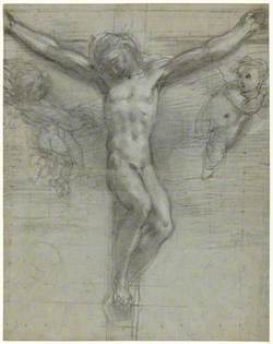 Study for Christ on the Cross with Two Angels