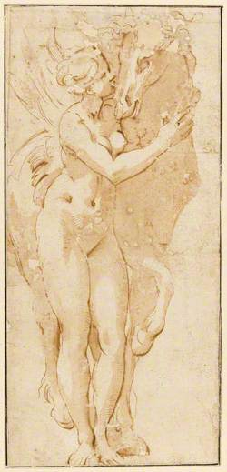 Nude Female Figure with a Horse