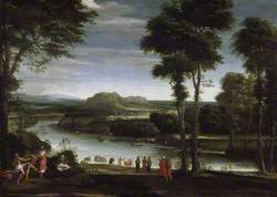 Landscape with Saint John Baptising