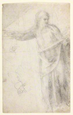 Draped Figure of Christ – Two Studies of a Left Hand, One Showing Part of the Forearm