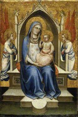 Virgin and Child Enthroned with Two Attendant Angels