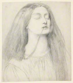 Elizabeth Siddal – Study for Delia in 'The Return of Tibullus to Delia'