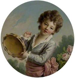 Child with a Tambourine
