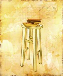 Still Life with Stools and Books