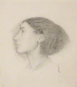 Mrs Fanny Eaton (Profile Left)
