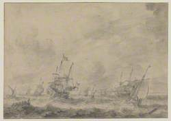 Warships in a Rough Sea