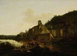 Italian Landscape with a Monastery