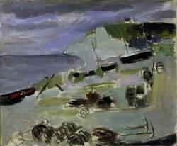 Boats on the Beach, Etrétat