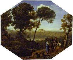 Pastoral Landscape with Lake Albano and Castel Gandolfo