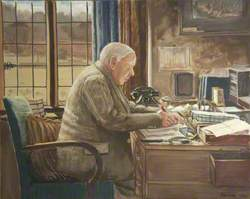 John Howard Whitehouse (1873–1955), in His Study, New House, Bembridge School