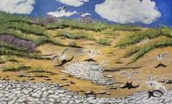 Sand Dunes, Gulls, Walney North End, 1949
