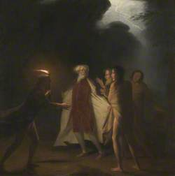 King Lear in the Tempest Tearing off his Robes