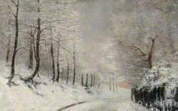 North End Way under Snow