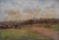 Looking towards Hampstead from Parliament Hill Fields