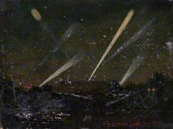 Searchlights from Parliament Hill, German Zeppelin Raid, 8 September 1915