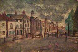 Tollgate, Hampstead Road by St James Chapel