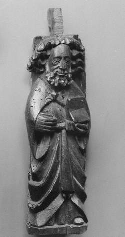A Medieval Carved Male Figure from Newport Pagnell Church