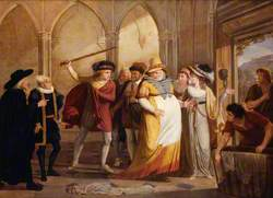 Scene in 'The Merry Wives of Windsor'