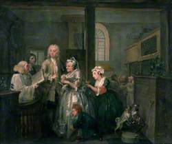 A Rake's Progress: 5. The Rake Marrying an Old Woman