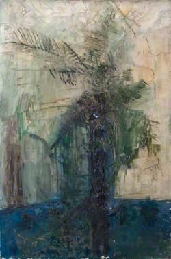 Ferns in a Blue Pot