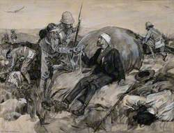 Boer Wars: British Soldiers Bringing First Aid to Wounded Boers