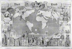 The Black Death: Map of the World, with Vignettes