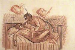 A Patient Being Made Comfortable on a Bed; with Two Studies of the Patient's Face