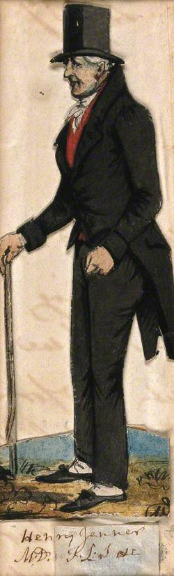 Henry Jenner, Holding Stick and Wearing Top Hat and Tails