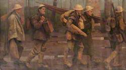 First World War: Auxiliaries Bringing Stretchers, Splints, Rations and Water for the Line