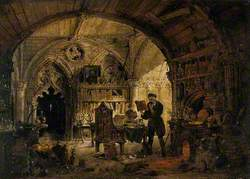 An Alchemist in His Laboratory