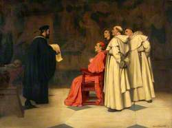 Gabriel Falloppius (Fallopius), Explaining One of His Discoveries to the Cardinal Duke of Ferrara
