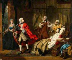 Oliver Goldsmith's Medical Advice Rejected by His Patient in Favour of the Advice of the Apothecary