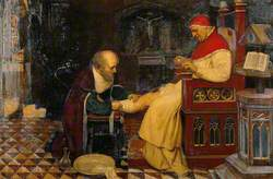 Guy de Chauliac Bandaging the Leg of Pope Clement VI at Avignon, c.1348