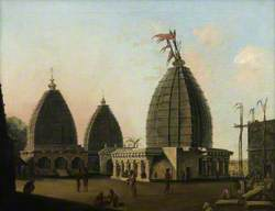 A Group of Temples at Deogarh, Santal Parganas, Bihar