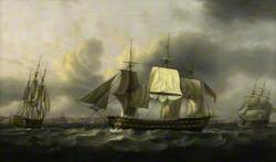 The 'Earl of Abergavenny' East Indiaman, off Southsea