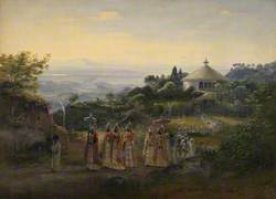 A Procession of Priests in Rich Robes, 1842