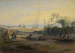 A Bay with Shipping in the Distance, 1842