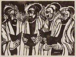Men Praying – Four Rabbis
