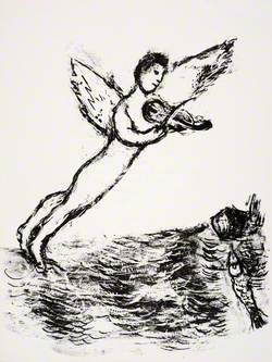 Ariel Posed above the Sea, Playing the Violin