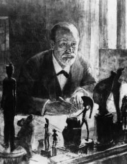 Sigmund Freud at His Desk