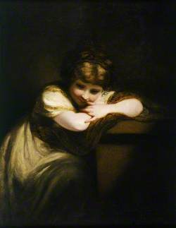 Girl Leaning on a Pedestal