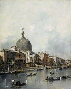 Venice, the Church of San Simeone Piccolo on the Grand Canal