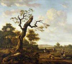 A Landscape with a Hawking Party