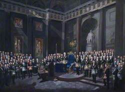 The Reception of HRH The Prince of Wales as Past Grand Master, 1 December 1869