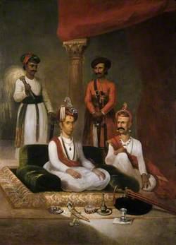 Madhu Rao Narayan, the Maratha Peshwa with Nana Fadnavis and Attendants