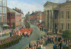 The Entry of the Cheshire Regiment into Macclesfield on the Occasion of the Centenary Celebration, 14 July 1989
